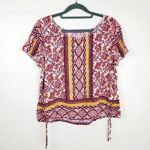 Hollister | Boho, Gypsy Top with Tie Detailing